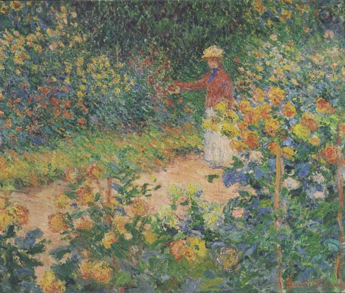 'In The Garden' by Claude Monet